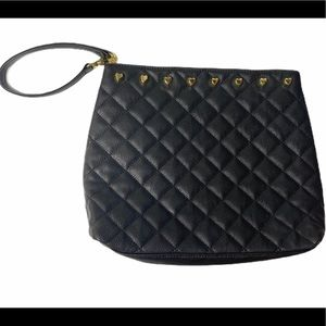 Betsey Johnson Quilted Hearts Large Wristlet